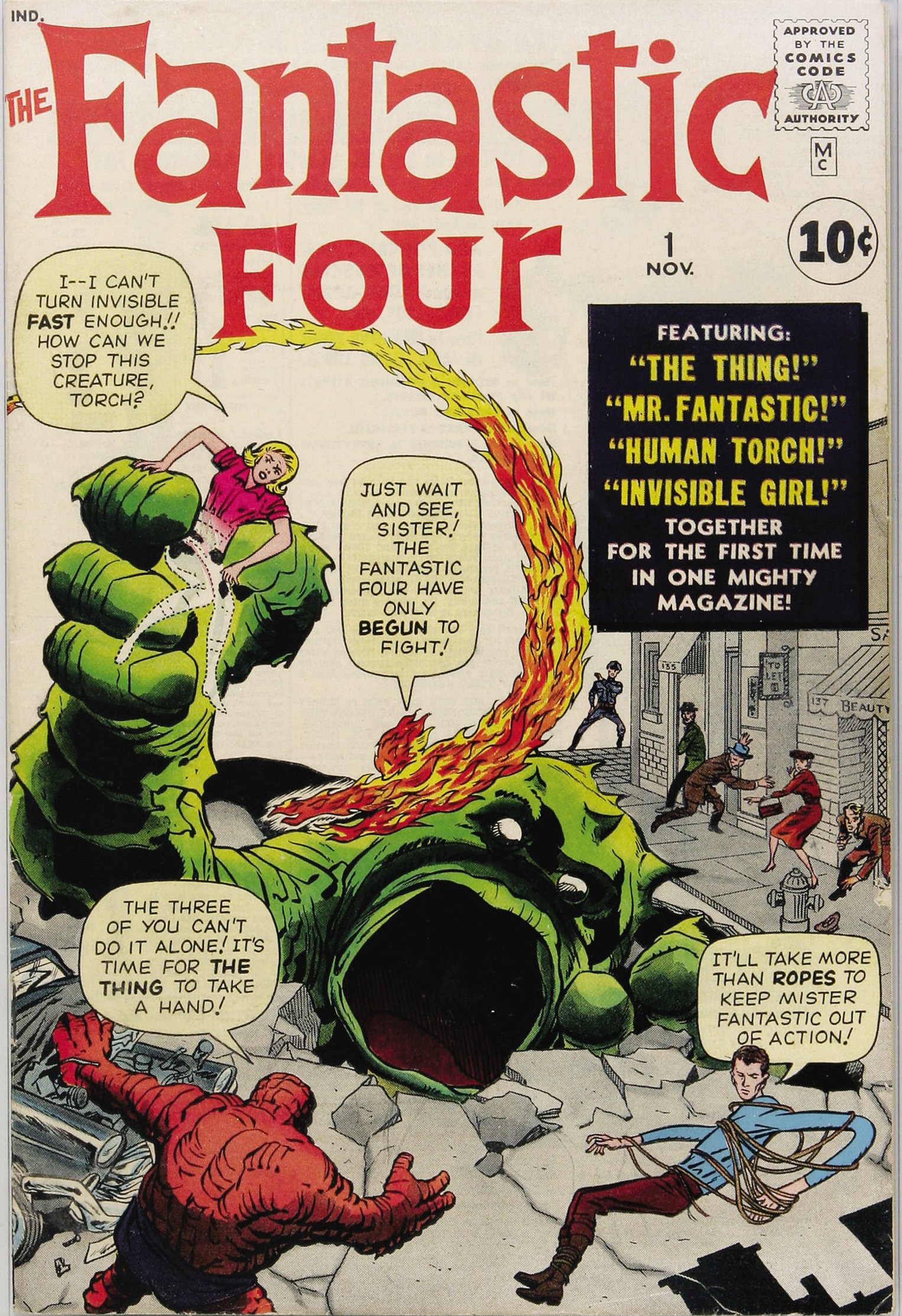 cover of Fantastic Four #1, 1961