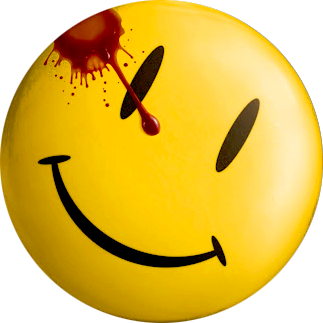 bloody smiley face button from Watchmen film